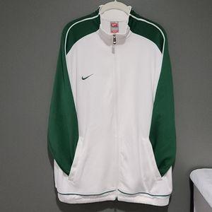 Nike Team Track Jacket white & Green Men's Size M